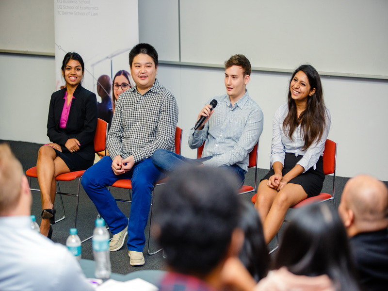 A student panel spoke about their BEL SET experiences and the services on offer to students