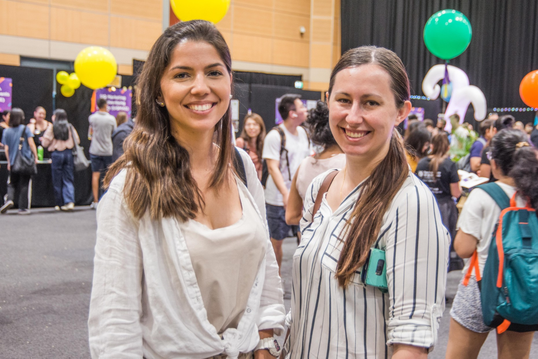 Postgraduate students Larissa Cruz and Tamika Stasiuk