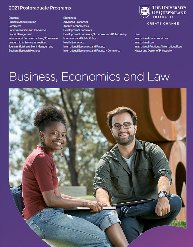 2021 Business, Economics and Law - Postgraduate Guide