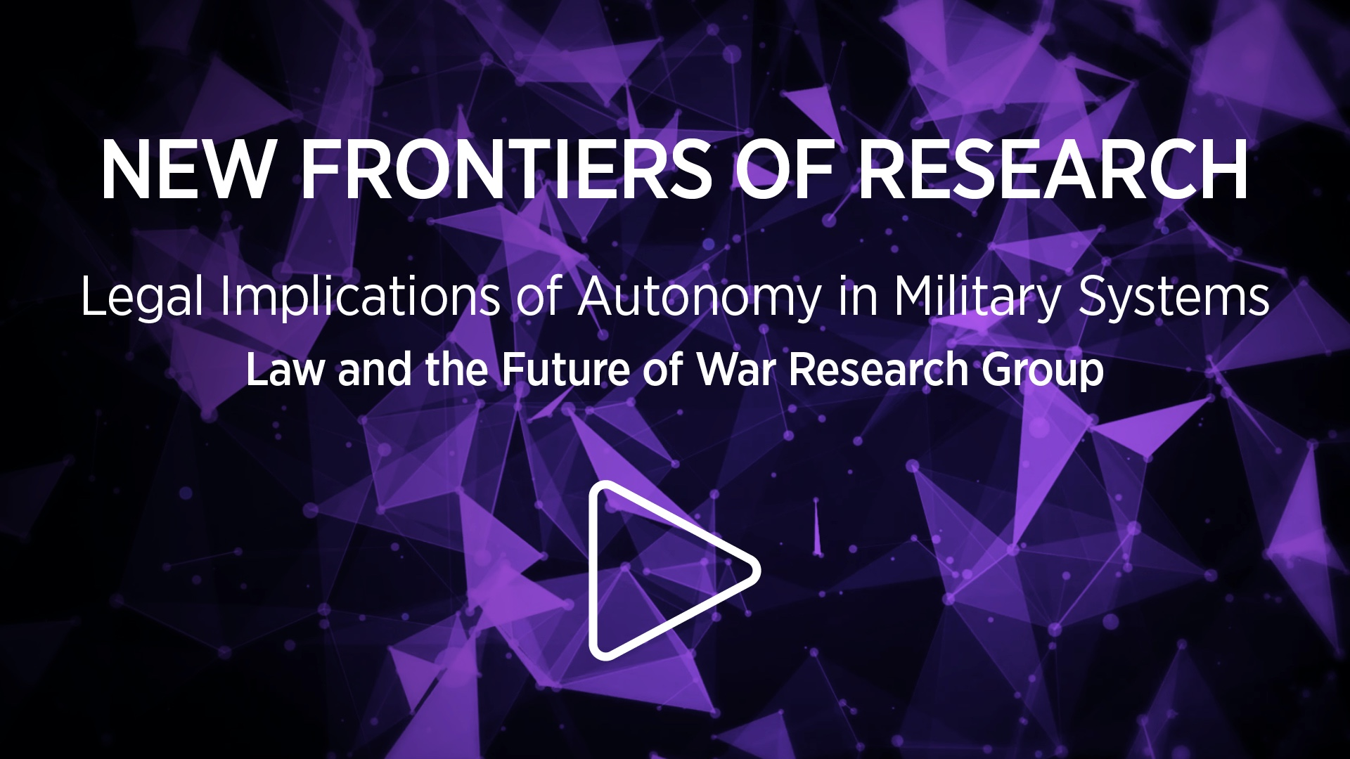 Legal implications of autonomy in military systems