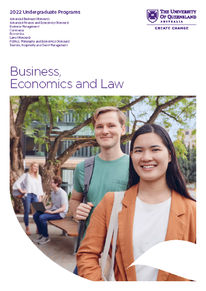 2022 Business, Economics and Law - Undergraduate Guide