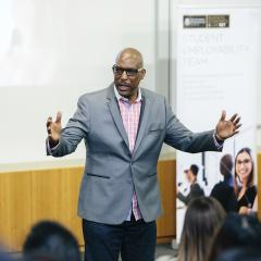 Activational speaker and retired NBL star, Eric Bailey