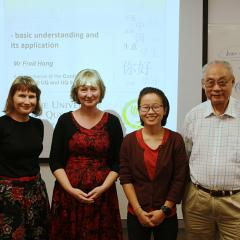 Staff and trainers from the School of Economics and Confucius Institute