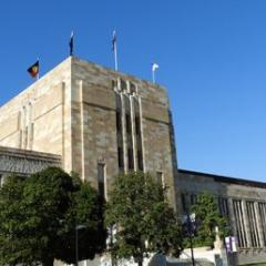 This is an image of UQ's Forgan Smith building