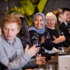 Global leaders at dinner