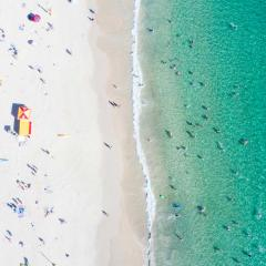 Burleigh Heads beach aerial