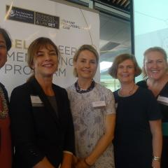 Some of the ICF-accredited coaches with BEL Career Mentoring Program director, Cate Clifford