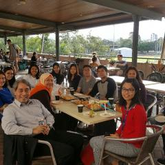 BEL Faculty staff hosted the Universitas Indonesia delegation for lunch at Belltop Cafe
