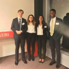 UQ finalists in the 2018 UBS Investment Banking Challenge