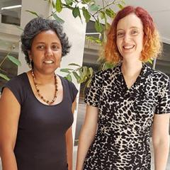 Renuka and Jacquelyn