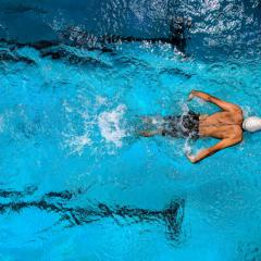 This is an image of a swimmer in a pool