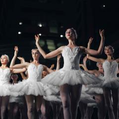 Ballerinas performing onstage