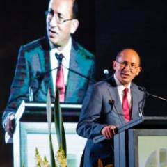 Chancellor Peter N Varghese AO speaks at the ceremony this week