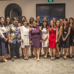 BEL international scholarship recipients with UQ staff