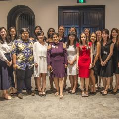 BEL international scholarship recipients with UQ staff