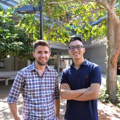 Scholarship recipients Jake Sullivan and Zi Yin