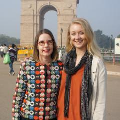 Zoe Brereton with Prof Sarah Derrington